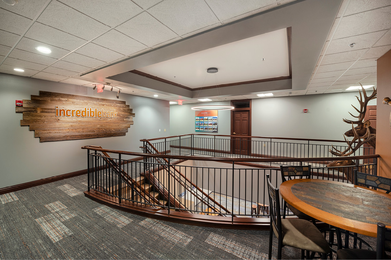 Incredible Bank -Wausau Branch Remodel     Stairwell