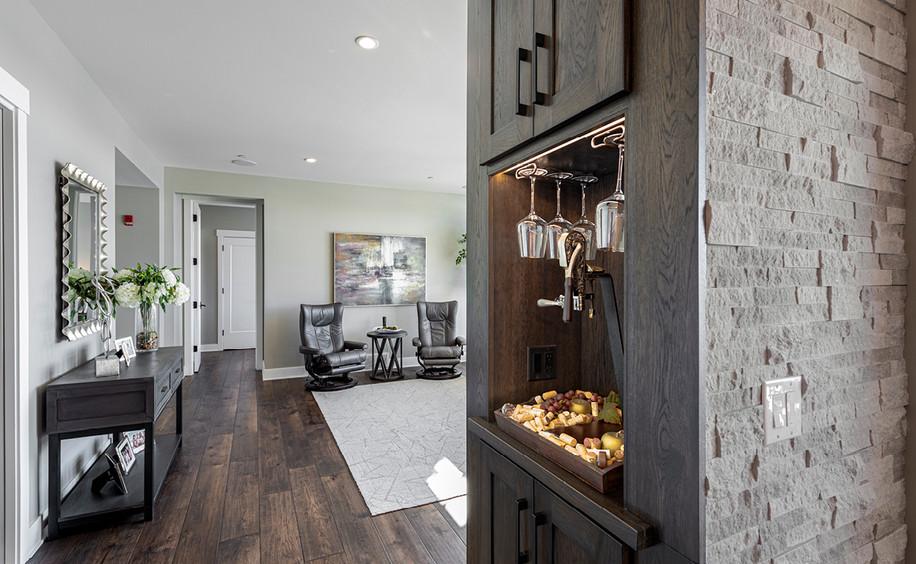 New Construction  |  Condo  |  Alcove Detail & Living Area