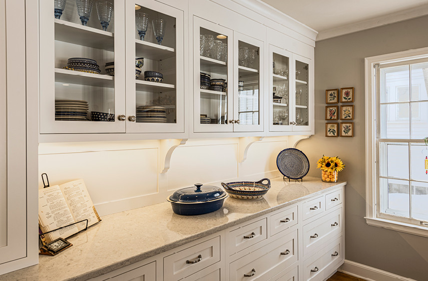 Home Remodel  |  Dining  |  Custom cabinetry