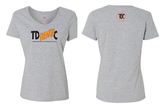 Women's V Neck Steel Grey