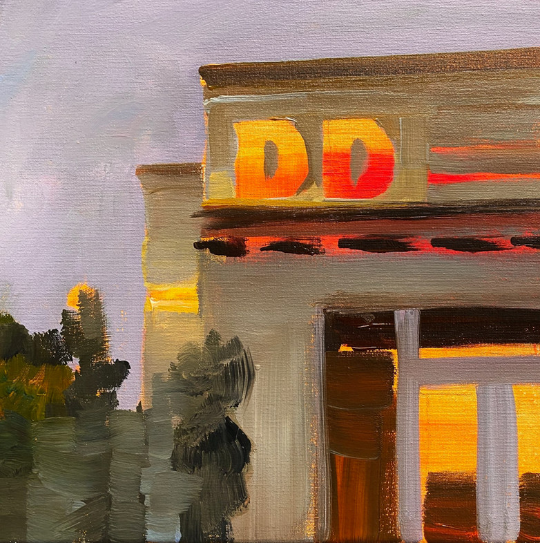 Dunkin, 12x12 inches