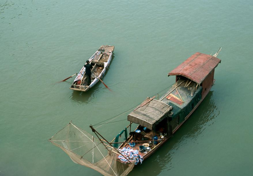 two boats - Yangtze River