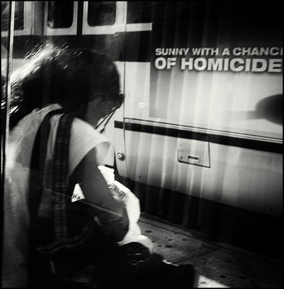 """Brooklyn, Sunny with a chance of homicide  From the series """"Urban Street Portraits"""""""