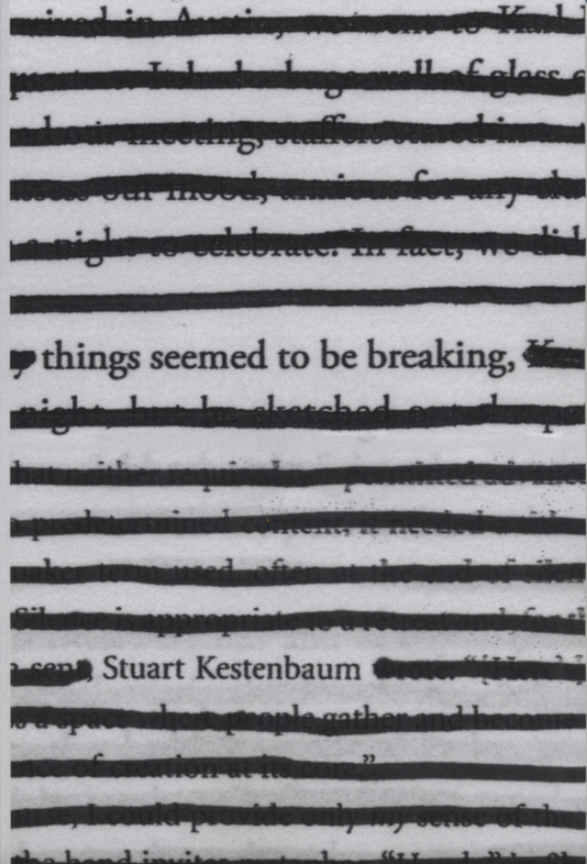 In the less is definitely more department, we have arrived at perfection. Stuart Kestenbaum's extracted poems are beacons of tender, funny, minimalist illumination. And beautiful to look at. In short, it is all there. —Maira Kalman www.deerbrookeditions.com