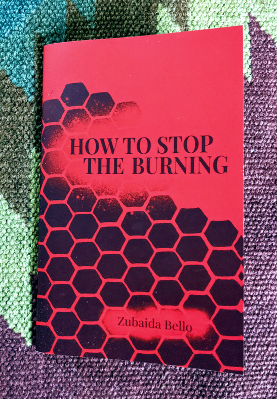 In How to Stop the Burning, Zubaida Bello's poetry focuses on themes of womanhood and inheritance, offering the audience an intimate portrait of herself through her words. https://www.perennial-press.com/2020-chapbooks
