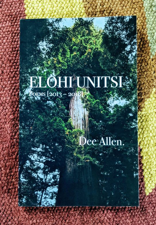 """In the language of the Tsalagi Nation, the phrase Elohi Unitsi means """"Mother Earth."""" Oakland, CA performance poet Dee Allen, shows respect for our planet in his fifth poetry collection. The innate beauty, consistent harm from humans, and occasional travels to nature. http://www.conviction2change.com/poetry.html"""