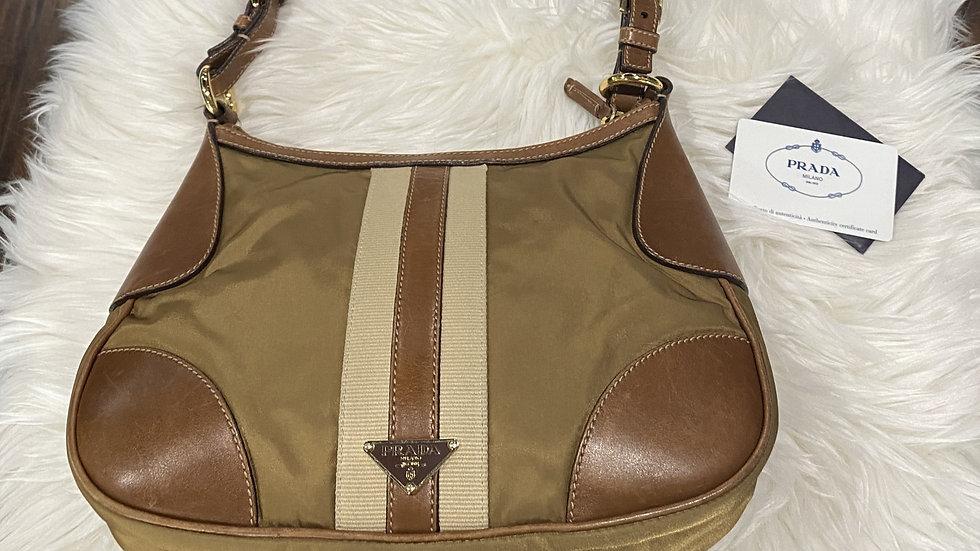 Prada Tessuto Leather & Nylon Bag