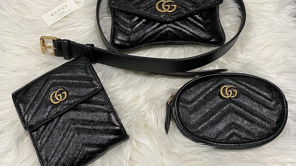 Gucci Marmont Triple Pouch Belt Bag