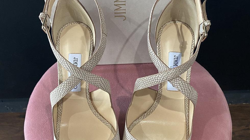 Jimmy Choo Emily Net Leather Sandals