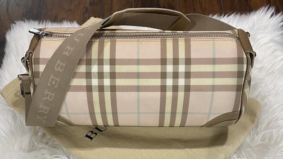 Burberry Nova Check Lola Barrel Bag