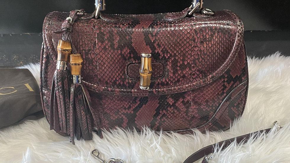 Gucci Python Leather Satchel