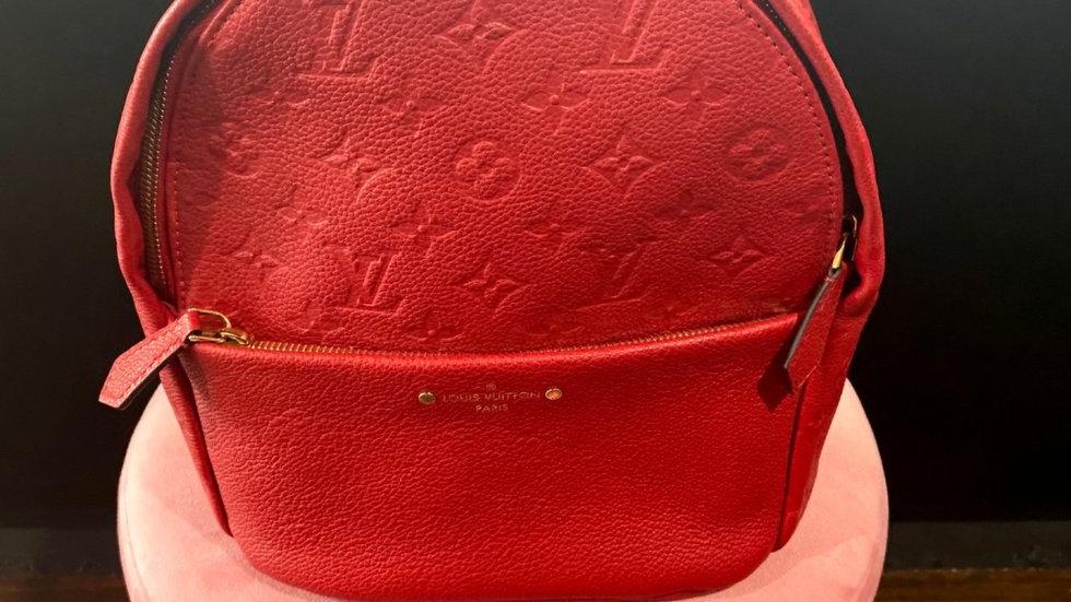 Louis Vuitton Cerise Empreinte Sarbonne Leather Backpack