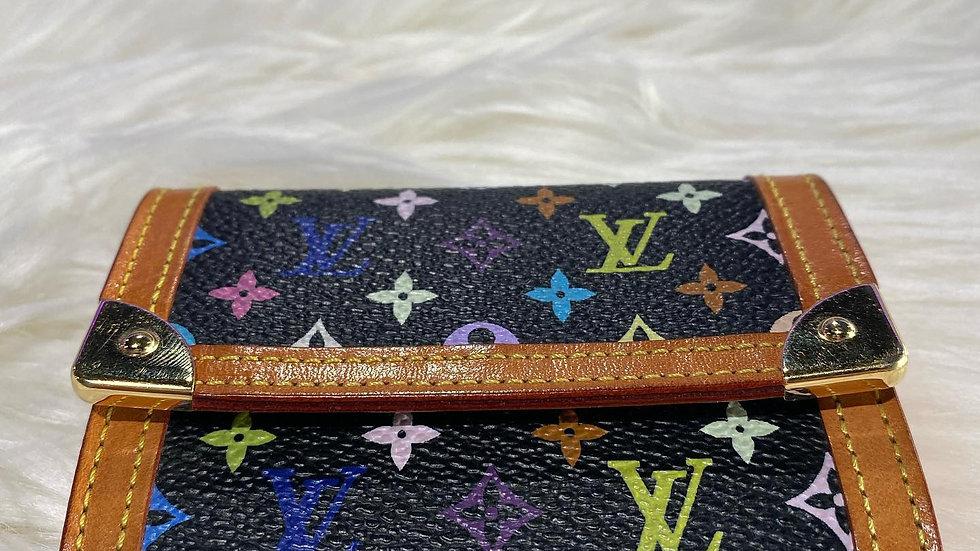 Louis Vuitton Multicolor Porte Monnale Plat Coin Purse