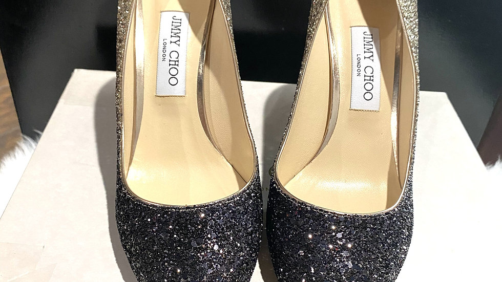 Jimmy Choo Romy Ombre Sparkle Pump