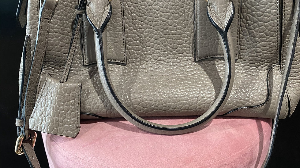 Burberry Grey Heritage Leather Tote