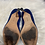 Thumbnail: Manolo Blahnik Blue Satin Pumps