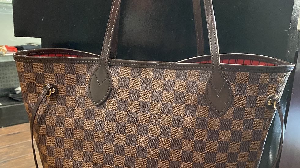 Louis Vuitton Damier Ebene Neverfull MM with Pouch