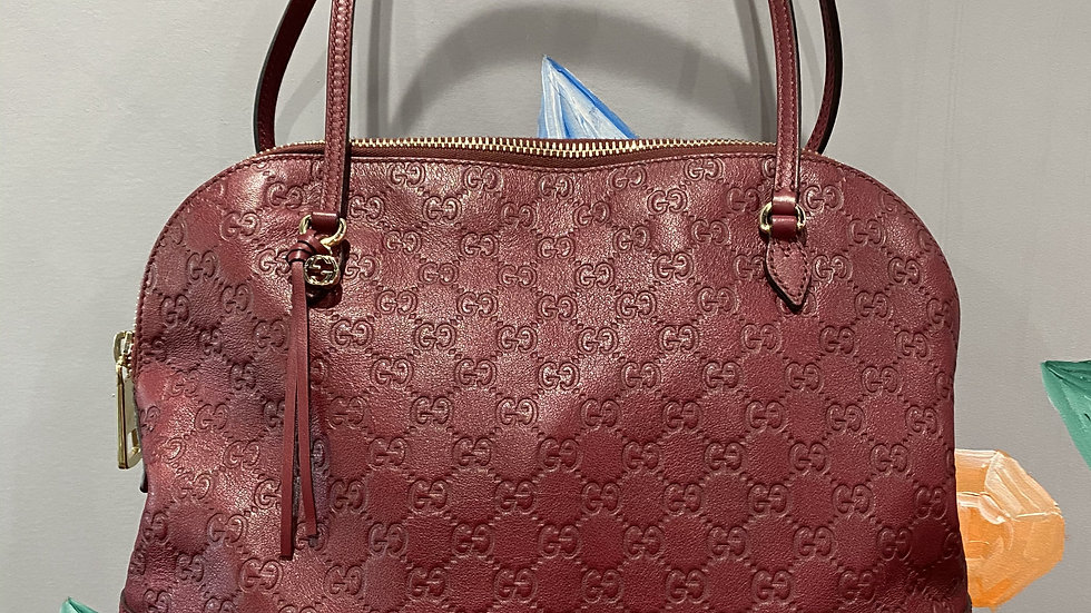 Gucci Bree Leather Top Handle Bag