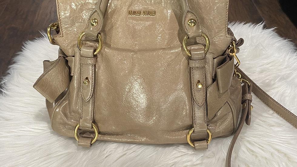 Miu Miu Vitello Lux Bow Bag