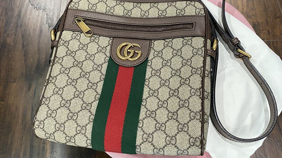 Gucci  Supreme Web Ophidia Messenger Bag