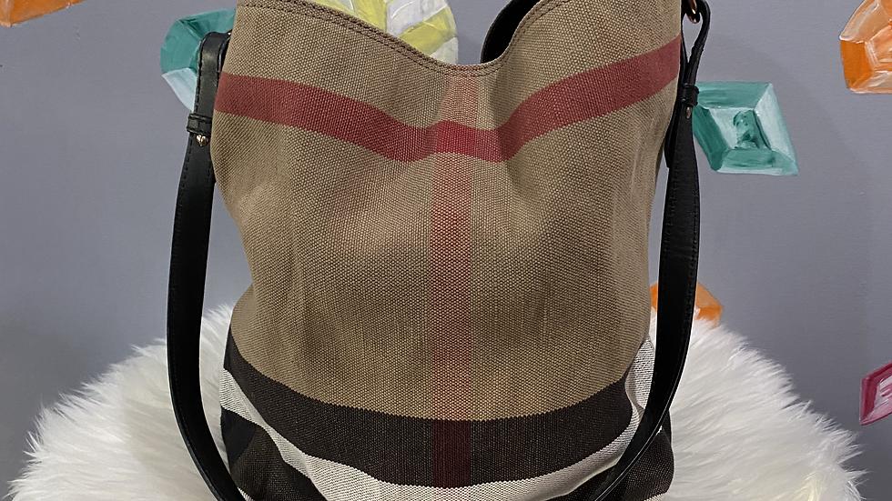 Burberry Canvas Bucket Bag