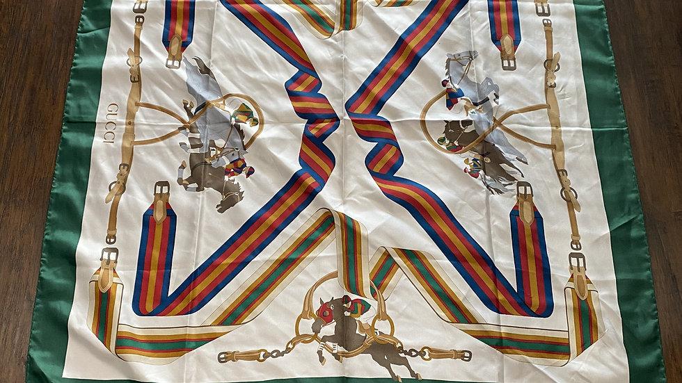 Gucci Silk Scarf Horses