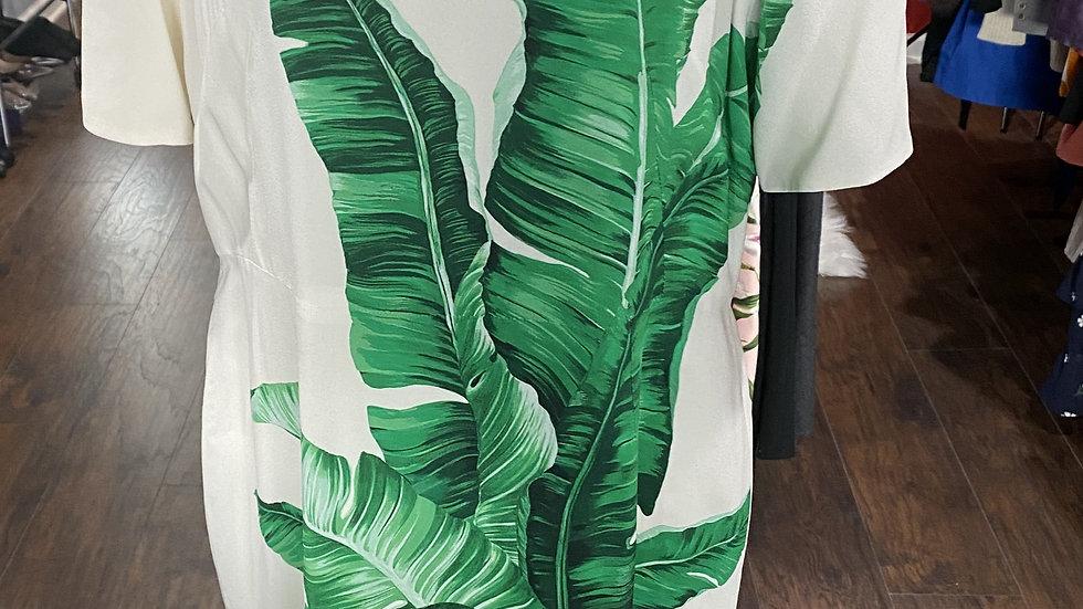 Dolce & Gabbana Banana Leaf Printed Dress
