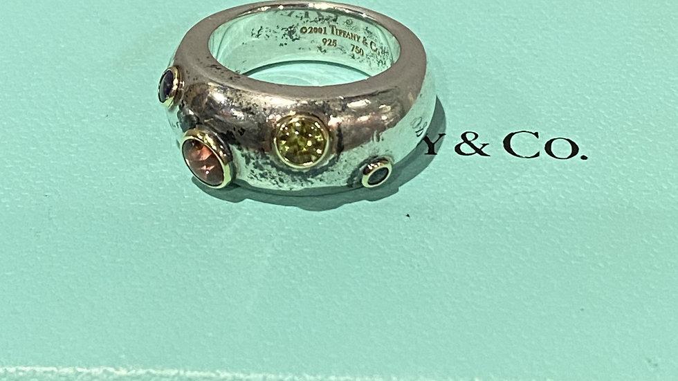Tiffany & Co Sterling Timeline Ring