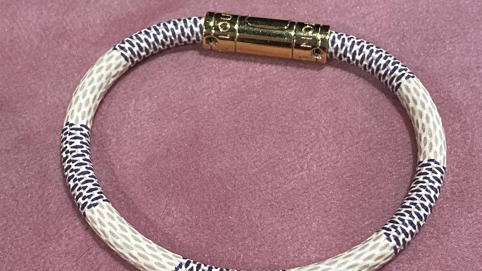 Louis Vuitton Keep It Bracelet, Damier Azur