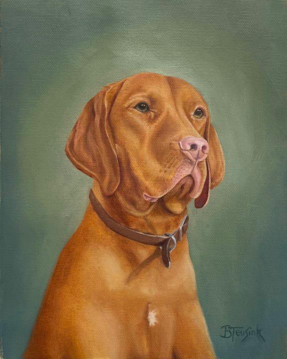 "Original Oil painting: ""Truman"" by Barbara Teusink"