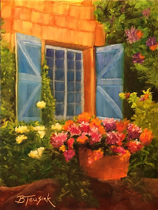 """Blue Shutters""  (Study of Dreama Tolle Perry)"