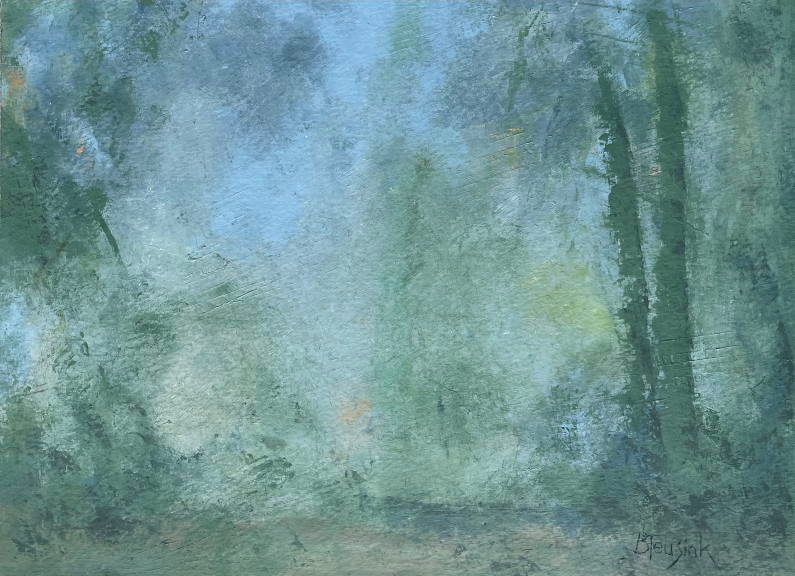 """Oil and Cold Wax Painting """"Mystic Forest"""" by Barbara Teusink"""