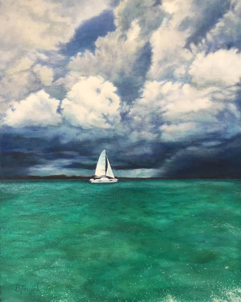 """Painting """"Ahead of the Storm"""" by Barbara Teusink"""