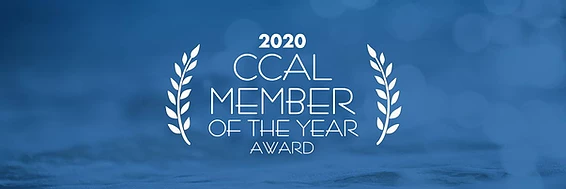 CCAL 2020 Member of the Year Award Banner