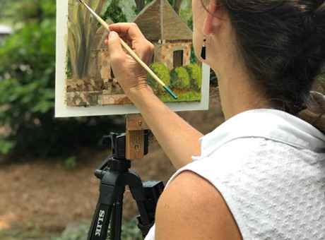 Painting in the Midst of Beauty