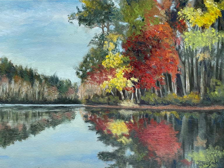 """Oil Painting """"Reflections of Autumn"""" by Barbara Teusink"""