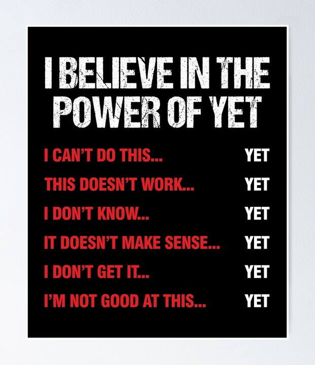 Poster about the Power of Yet