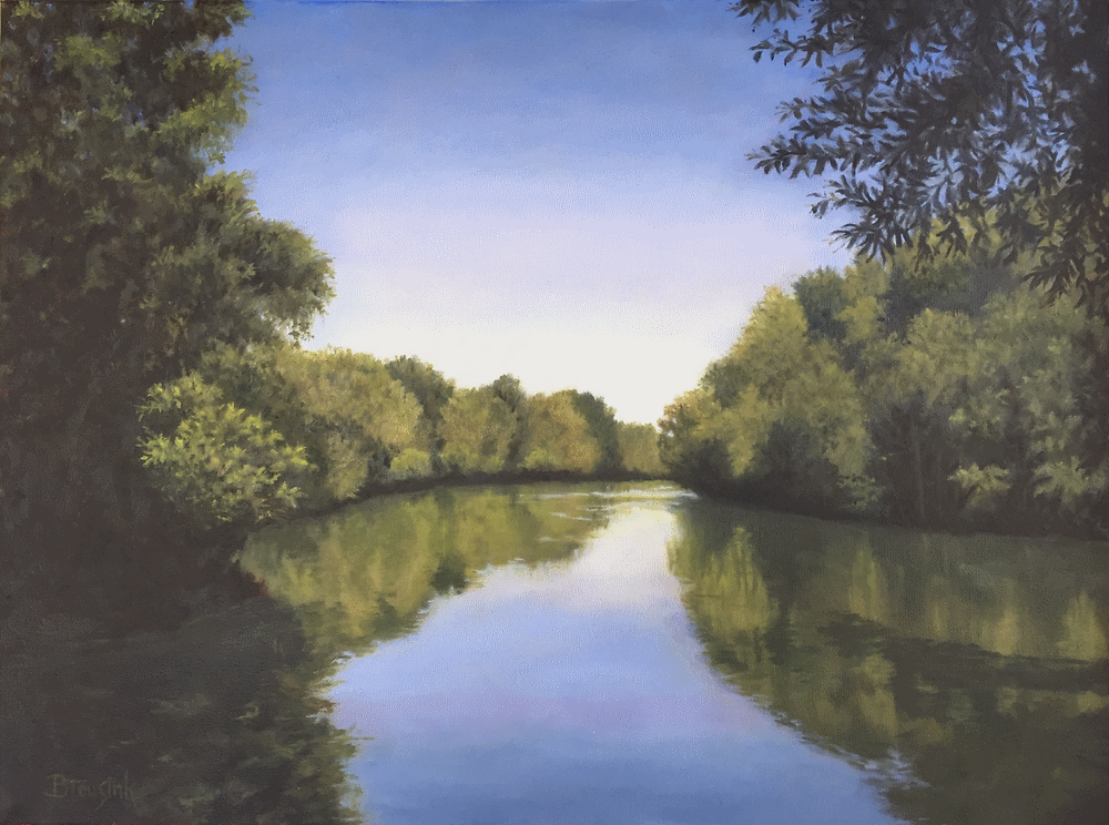 """Oil Painting """"Saluda River View"""" by Barbara Teusink"""