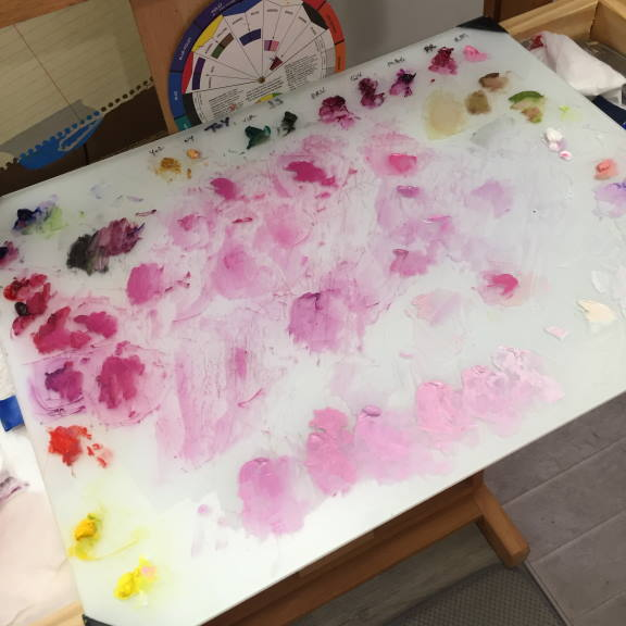 Painting Prep: Mixing the colors