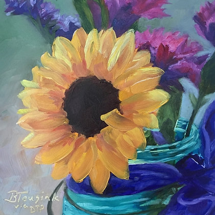 """Sunflower Smiles"" (Study of Dreama Tolle Perry)"