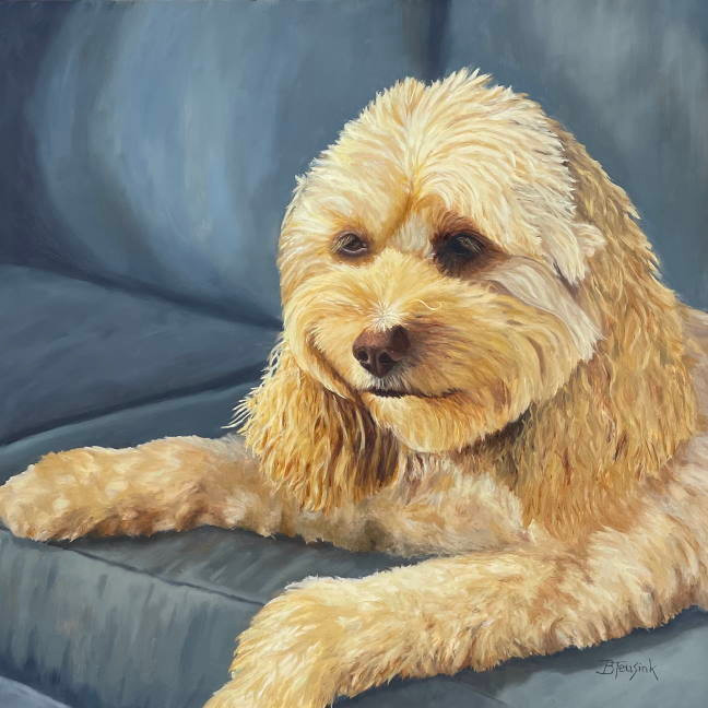 """Oil Painting """"Parker"""" by Barbara Teusink"""