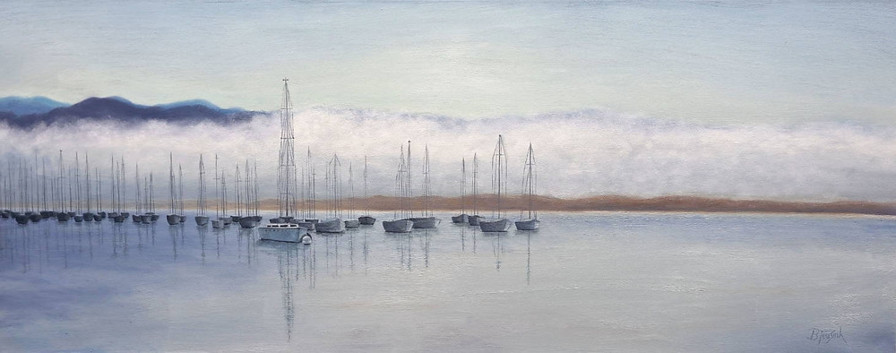 """Oil Painting """"Misty Morro"""" by Barbara Teusink"""