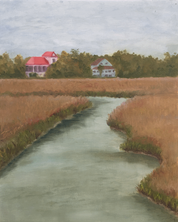 """Oil Painting: """"Edisto Marsh View"""" by Barbara Teusink"""
