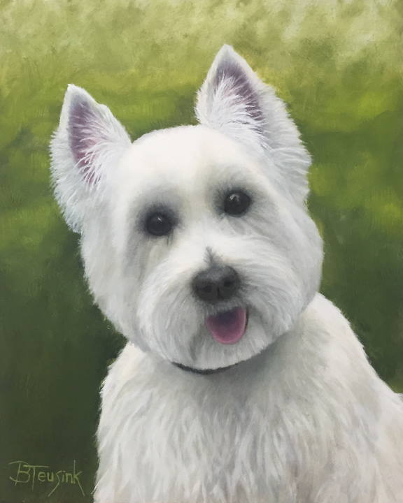 """Oil Painting: """"Murphy"""" by Barbara Teusink"""