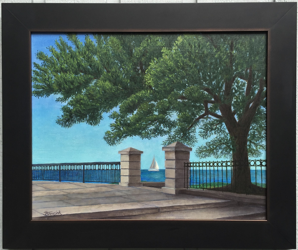 """Charleston Harbor"" Painting by artist Barbara Teusink"
