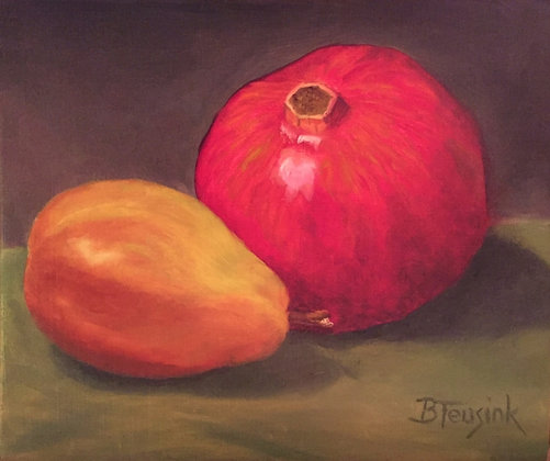 """Pomegranate and Pear"""
