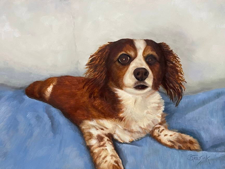 """Oil painting """"Lucy"""" by Barbara Teusink"""