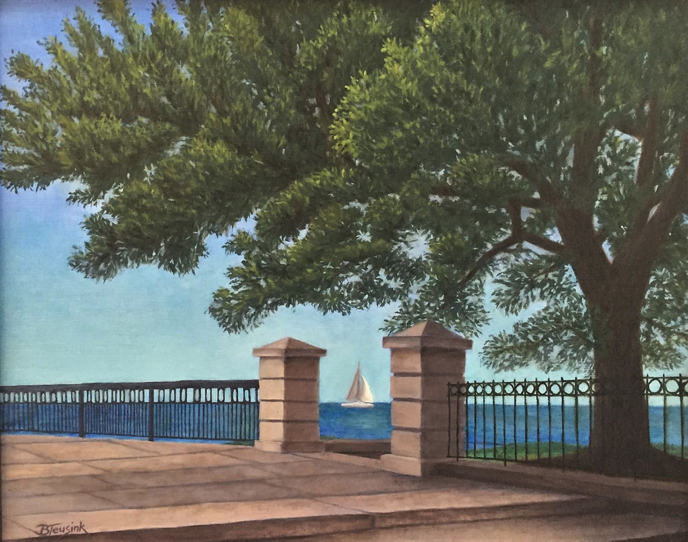 """Charleston Harbor"" oil painting by Barbara Teusink"