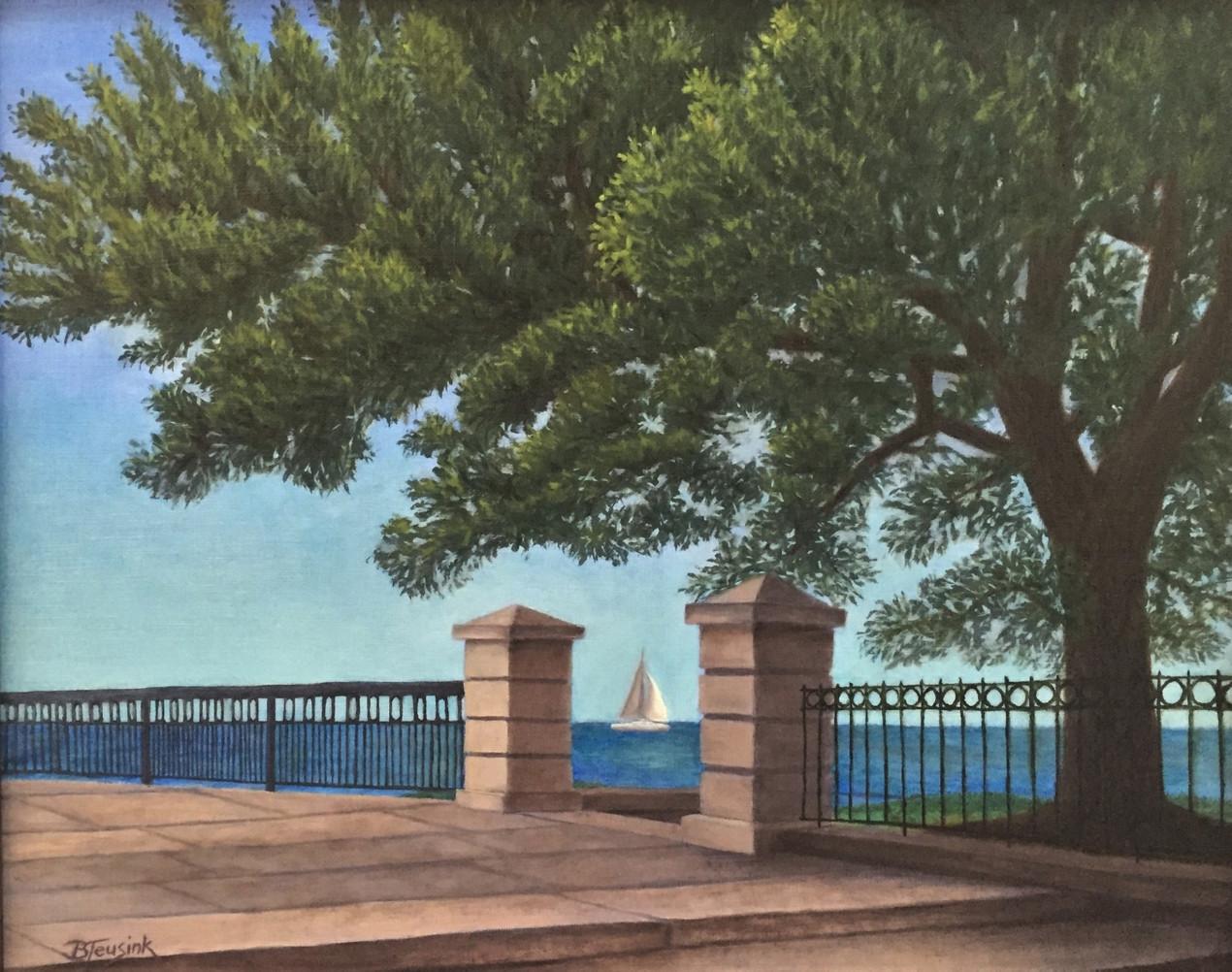 "Painting ""Charleston Harbor"" by Barbara Teusink"