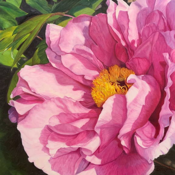 "Oil Painting: ""Pretty in Pink"" by Barbara Teusink"